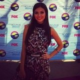 Victoria Justice strutted her stuff on the Teen Choice Awards red carpet. Source: Instagram user teenchoicegirl