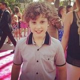 Modern Family's Nolan Gould smiled big. Source: Instagram user popsugar