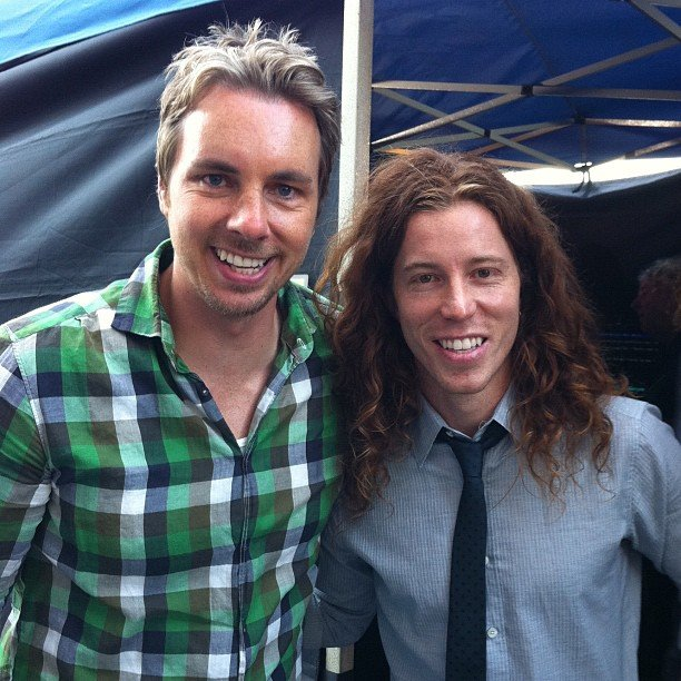 Dax Shepard and Shaun White met up.    Source: Instagram user teenchoicegirl