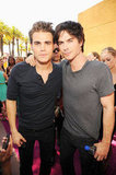 Ian Somerhalder said hi to Paul Wesley at the 2012 Teen Choice Awards.