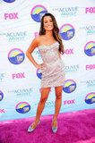 Lea Michele posed on the carpet for the Teen Choice Awards.