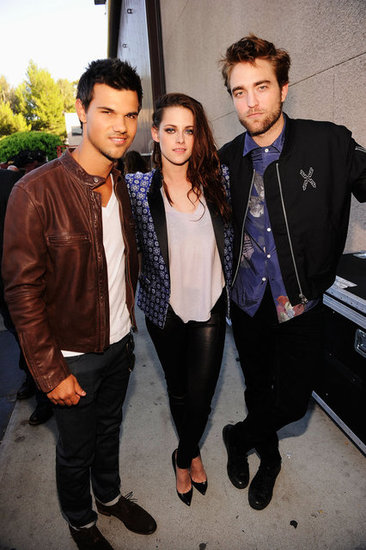 Robert Pattinson, Kristen Stewart and Taylor Lautner Get Boards For Twilight at the TCAs