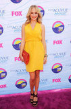 The Vampire Diaries actress Candice Accola was a stunner in bright yellow.