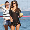 Alessandra Ambrosio Wearing Sheer Black Cover-Up