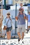 Naomi Watts and Liev Schreiber spent a day walking around the South of France.