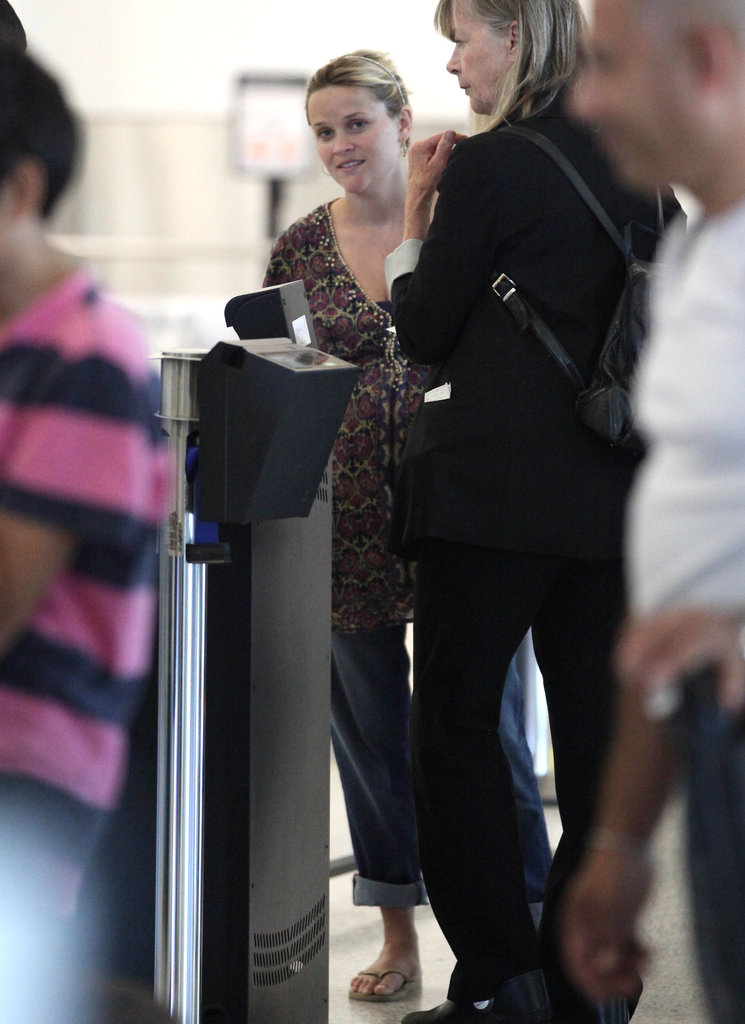 Reese Witherspoon went through security at LAX.