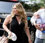 Hilary Duff looked gorgeous and happy with her family in NYC.