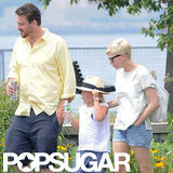 Jason Segel, Michelle Williams, and Matilda Ledger went for a walk.