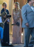 Kirsten Dunst held a bouquet at her friend Molly's July 2012 wedding in Santa Barbara.