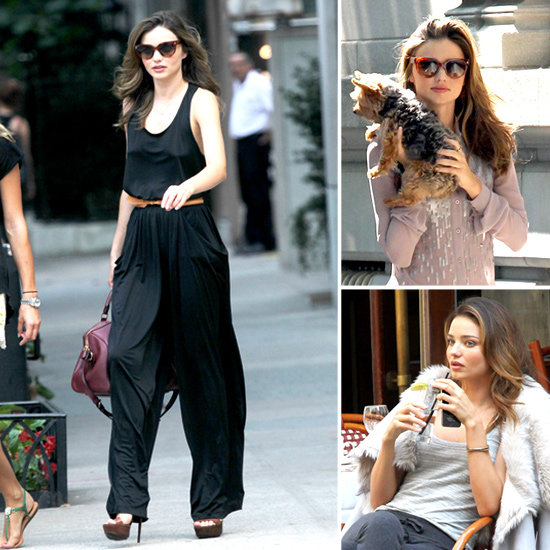 Miranda Kerr at a Photo Shoot in NYC With Her Dog