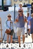 Liev Schreiber and Naomi Watts took a family vacation in the South of France.