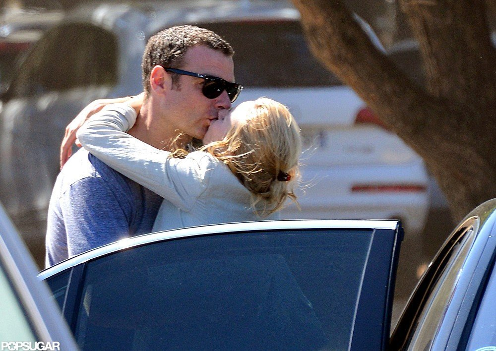 Liev Schreiber and Naomi Watts shared a kiss.
