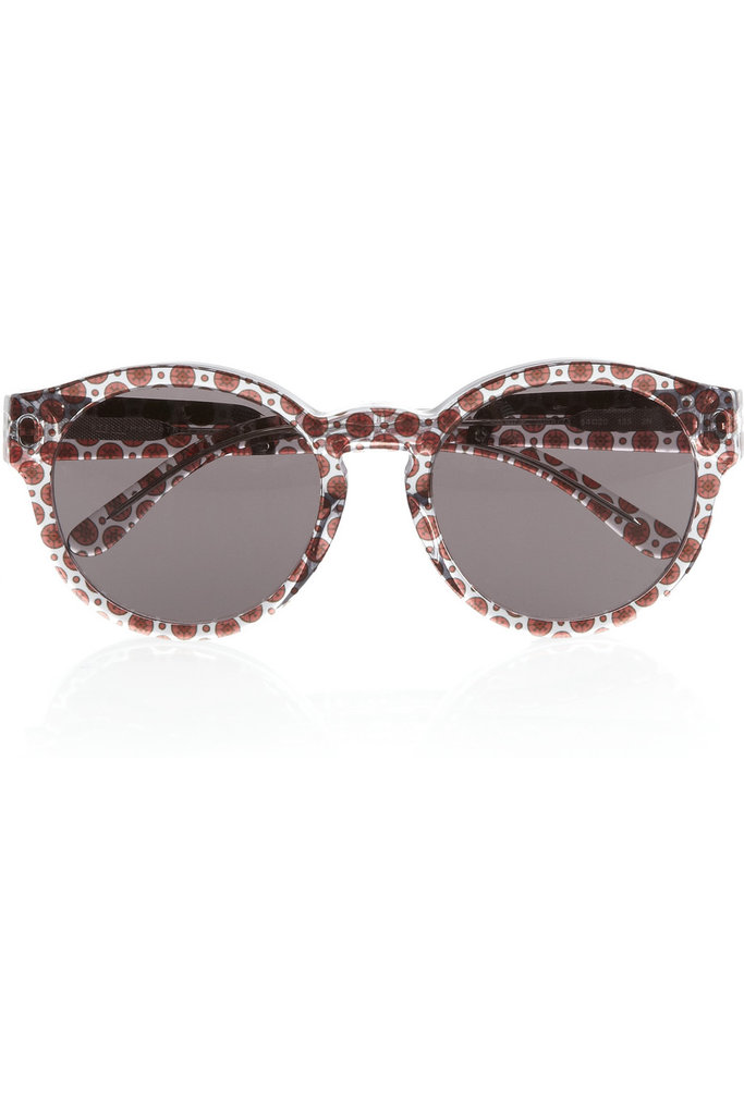 """Another printed item (I'm going pattern loopy this Summer). I love how girlie these are but sophisticated at the same time. Stella starry-eyed special."" — Poppy Delevingne  Stella McCartney Round-Frame Sunglasses ($225)"