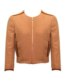 """Zoe is a master of tweed and nails that quintessentially British look. This peachy jacket ticks all the boxes for me. It's sharp, sassy, and would look beautiful over anything, especially a white vest and light denim jeans. Yum."" — Poppy Delevingne  Zoe Jordan Citrine Tweed Hardwick Jacket ($360)"