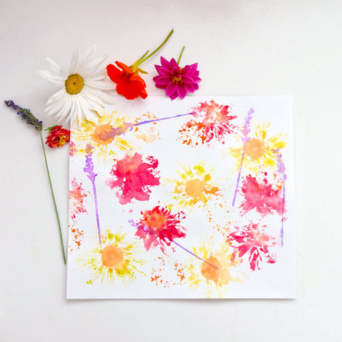 Flower Print Kids Craft