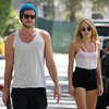 Liam Hemsworth and Miley Cyrus Skateboarding in LA Pictures