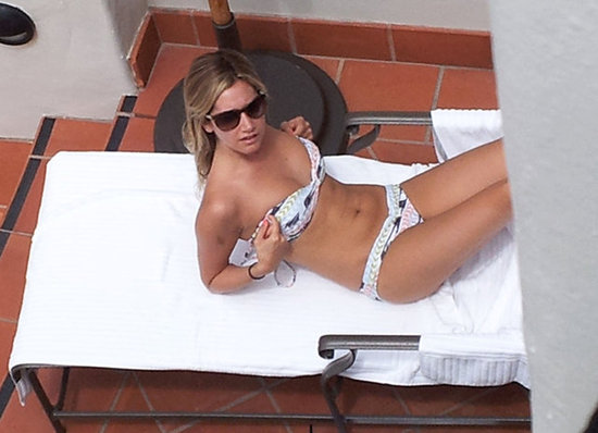 Ashley Tisdale lounged in a bikini.