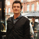 Orlando Bloom smiled in London.