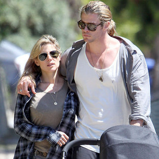 Chris Hemsworth and Elsa Pataky With Baby India