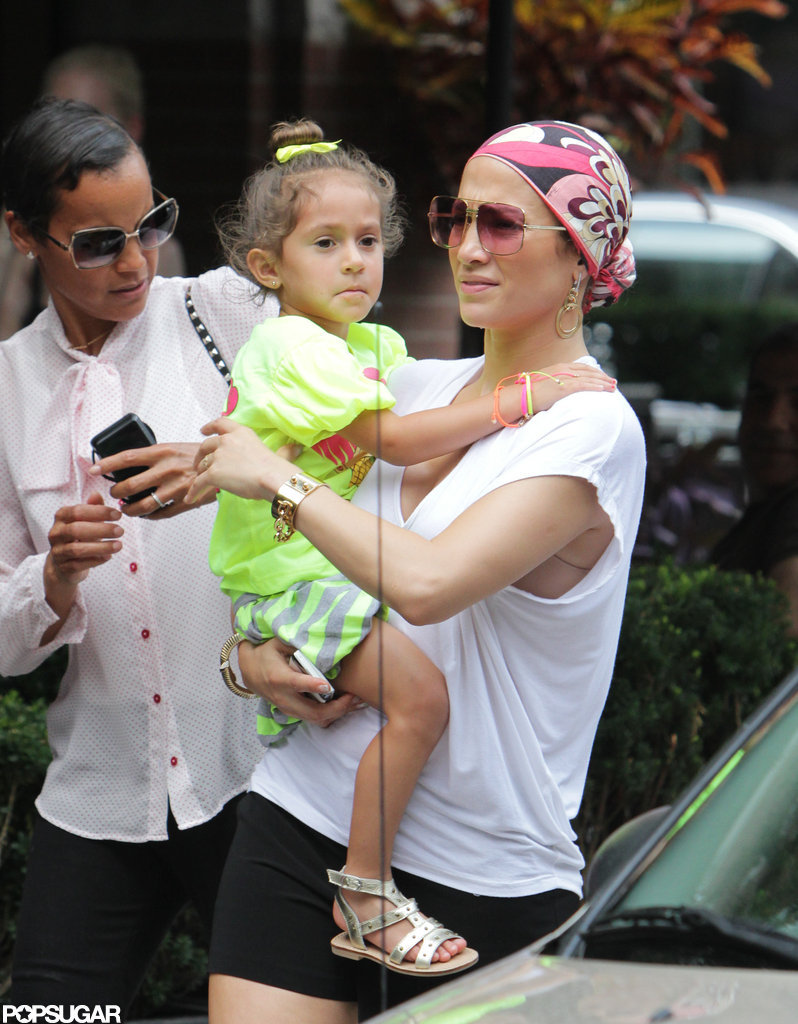 Emme Anthony and Jennifer Lopez were out in Toronto.