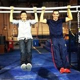 Ryan Seacrest took on the parallel bars with Olympic gymnast Danell Leyva. Source: Instagram user ryanseacrest