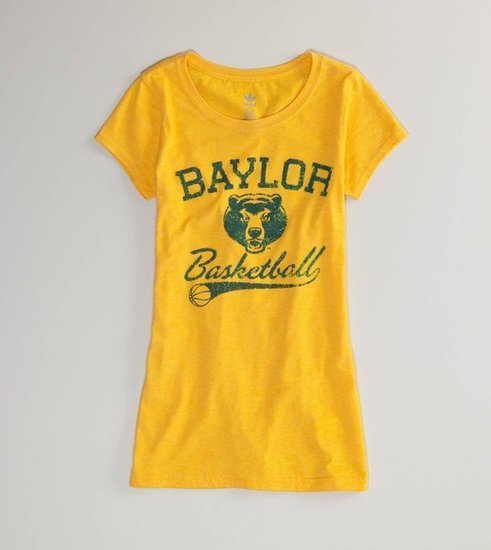 Show off your sports team pride via old-school jerseys and throwback logos. American Eagle Baylor Vintage T-Shirt ($15)