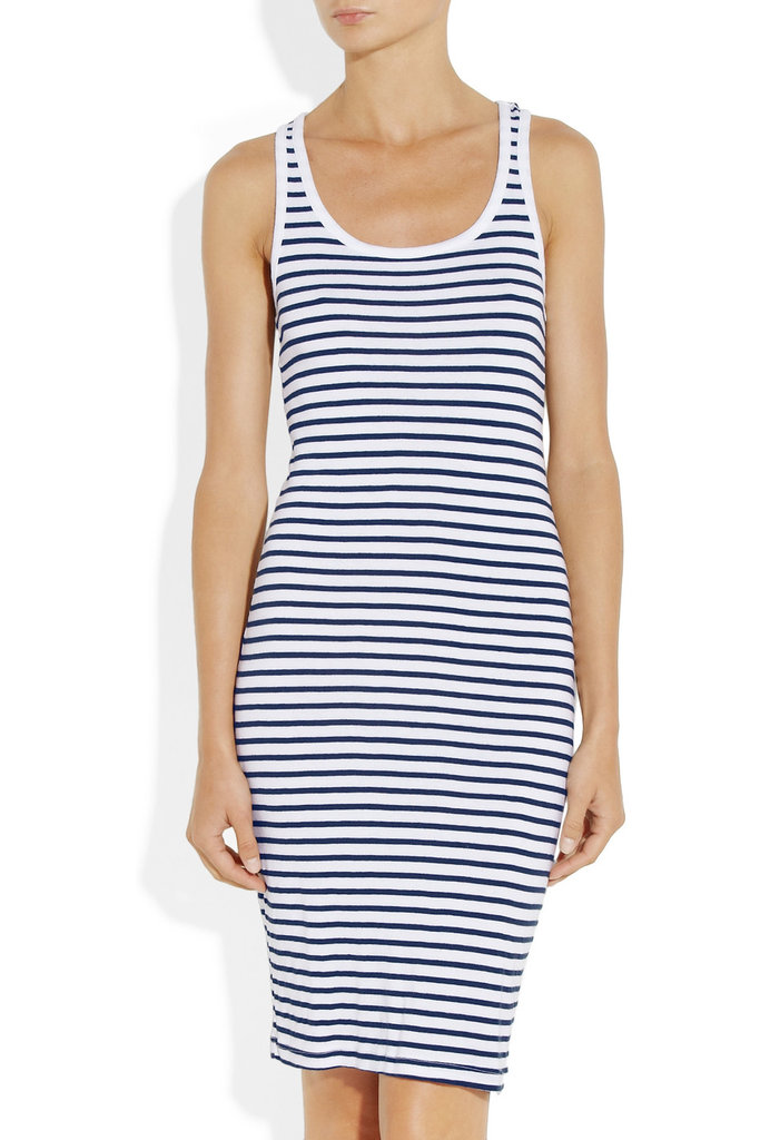 Forget overcomplicated dresses; this tank version is a seasonal standout that you can dress up with a white blazer at work or slip on over your bikini.  Splendid Florence Striped Cotton Blend Jersey Dress ($88)