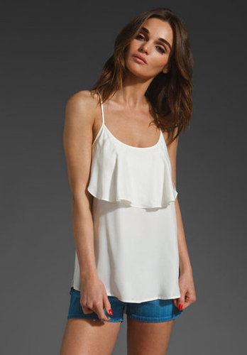 This flowy, feminine tank could easily make any pair of shorts night-out appropriate.  LA Made Silk Jersey Mix Flowy Tank ($92)