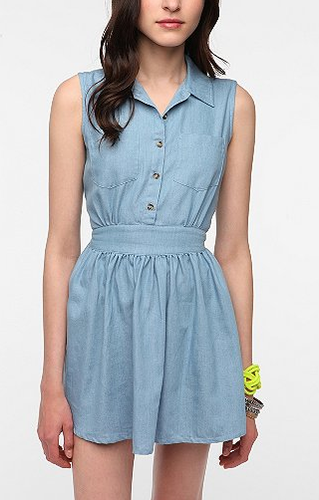 It may be too hot for your jeans, but in a lightweight version like this, you can have your denim and wear it too.  Motel Pam Shirtdress ($80)