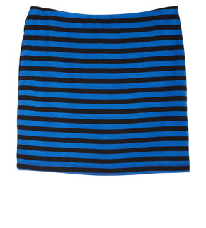 A striped mini feels instantly seasonal, and you can slip this baby on in literally seconds — then you're out the door.  Delia's Stripe Body Con Skirt ($17)