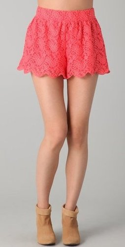 Upgrade your cutoffs with a pair that still lets your stems breath but looks a whole lot sweeter.  Free People Scalloped Lace Shorts ($78)