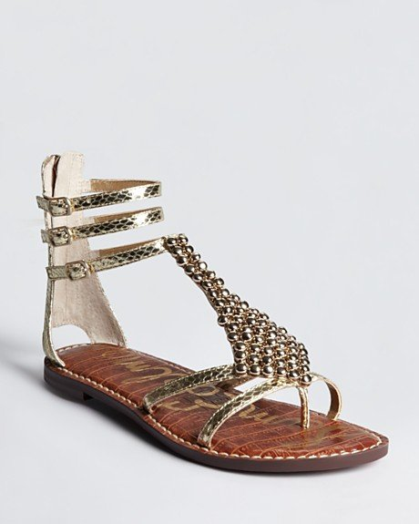 Gold gladiators go perfectly with long maxis, minis, work sheaths, and cutoffs. Basically there's no warm-weather staple this pair won't match.  Sam Edelman Ginger Sandals ($60, originally $100)