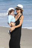 Rachel Zoe spent the afternoon with Skyler on the beach in Malibu in July.