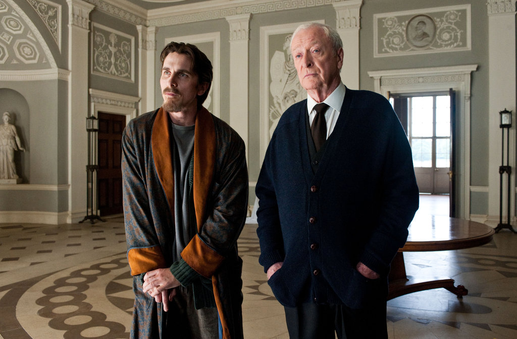 Christian Bale and Michael Caine in The Dark Knight Rises. Photo courtesy of Warner Bros.
