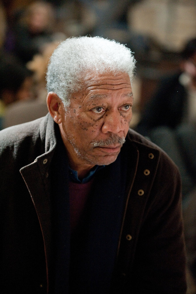 Morgan Freeman in The Dark Knight Rises.  Photo courtesy of Warner Bros.