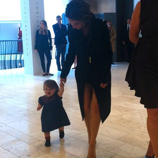 Harper Beckham Walking With Victoria in Ireland