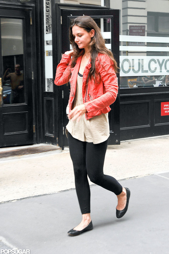 Katie Holmes did a class at SoulCycle.