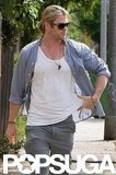 Chris Hemsworth sported some shades.