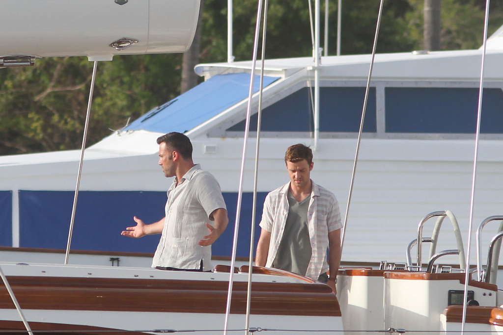 Ben Affleck and Justin Timberlake were on the set of Runner, Runner.