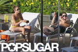 Jennifer Lopez relaxed in a bikini with a shirtless Casper Smart.