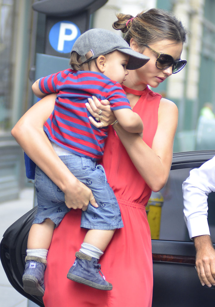 Miranda Kerr and Flynn Show Their Summer Style in NYC
