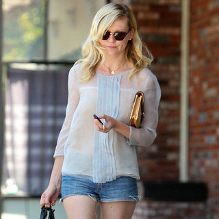 Kirsten Dunst Wearing Jean Shorts in LA | Pictures