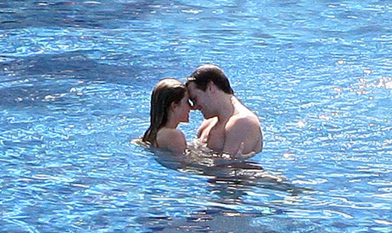 Gisele Bündchen and Tom Brady took a sexy swim in Mexico in January 2009.