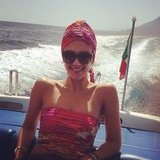 Jessica Alba channelled Jackie O. on a boat in Italy. Source: Instagram user jessicaalba