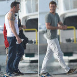 Ben Affleck Brings Muscles and Laughs to Set With Justin Timberlake