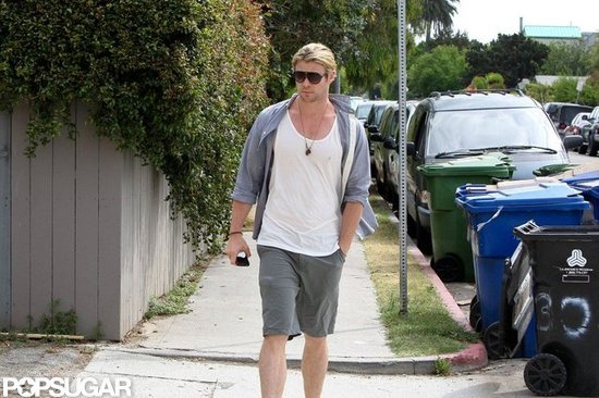 Chris Hemsworth went out for a meal.