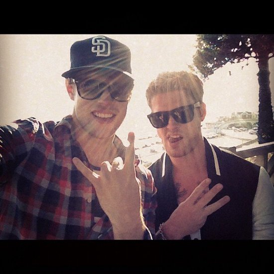 Chord Overstreet hung with his brother, Nash. Source: Instagram user chordover