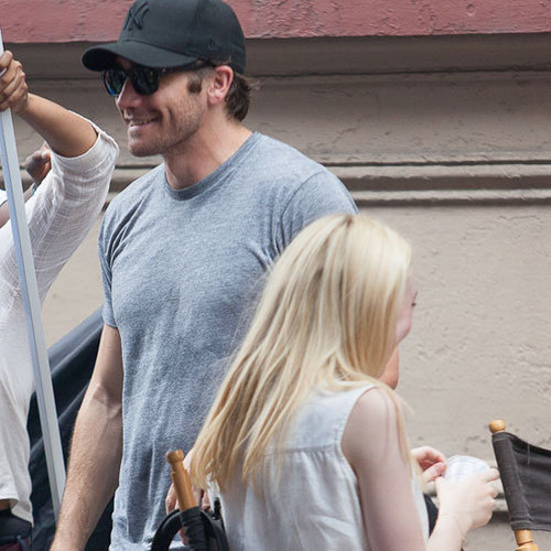 Jake Gyllenhaal Visits the Very Good Girls Set