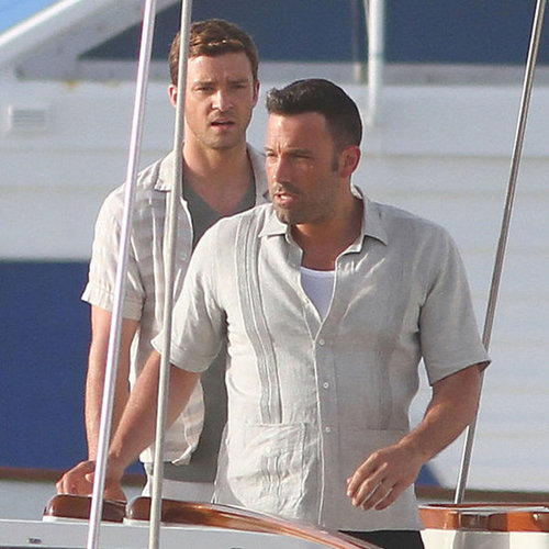 Ben Affleck and Justin Timberlake on Set in Puerto Rico