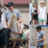 Jake Gyllenhaal Visits His Good Girls Mom, Dakota, and Lizzy on Set